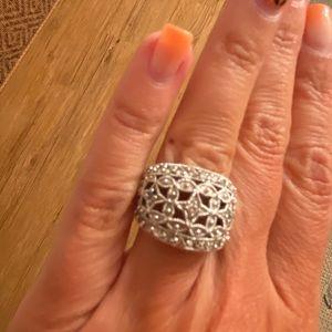 Lia Sophia Women's Silver Ring Size 5